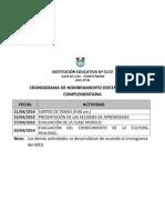 Cronograma de Nombramiento Docente Etapa Complement Aria