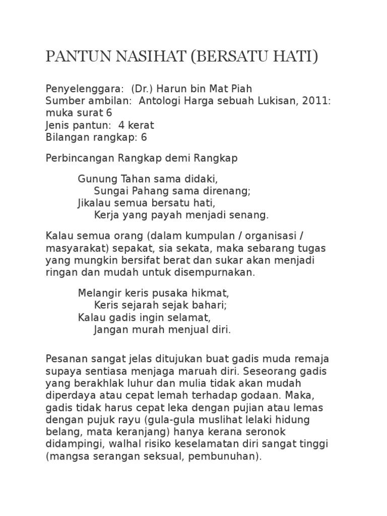 Pantun Nasihat Notes