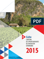 Cartera de Oportunidades de Inversión Extranjera - 2015