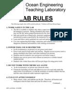 Lab Rules 2006