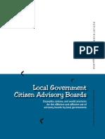 Local Government Citizen Advisory Boards - MRSC