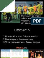 L0 P1 to P3 CSAT 2015 Orientation GS-Preparation