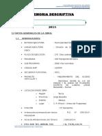 2. Memoria Descriptiva Febrero 2015