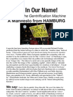 "anti-gentrification movement in Hamburg, Germany ""Not in Our Name"""