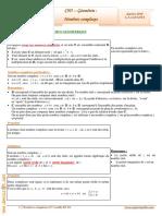 Cours Math - Chap 5 Géométrie Nombres Complexes - 3ème Math (2009-2010) Mr Abdelbasset Laataoui Www.espacemaths.com