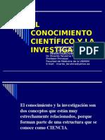 03. El Conocimiento Científico y La Investigación