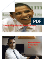 Obama Leadership Lessons