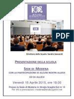 Presentazione Modena aprile 2016
