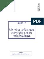 Clase 12 IC Para Proporcion y Varianza