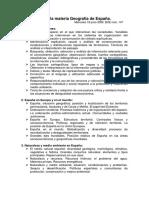 Contenidos de La Materia Geografía de España