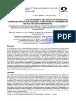 Análise comparativa de ensaios mecânicos de ruptura de corpos de prova em concreto com diversos tratamentos em sua face de compressão