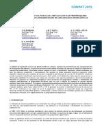 A influência do uso da pozolana nas propriedades relacionadas com a durabilidade de argamassas inorgânicas