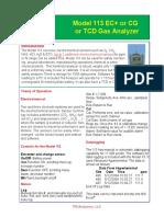 Model 113 Gas Analyzer 1207