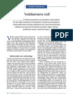 Grevholm Problemens Roll