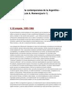 Breve Historia Contemporanea de La Argentina Resumen 2 Parcial