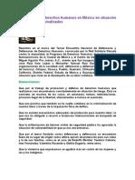 Defensores de derechos humanos en México en situación de riesgo y criminalizados