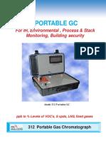 Model 312   Portable Gas Chromatograph 4pg 306