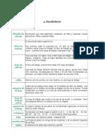 Vocabulario Excel
