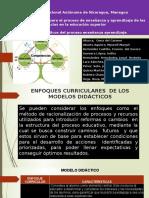 grupo 4  ENFOQUES CURRICULARES  DE LOS MODELOS DIDÁCTICOS