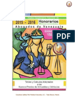 Honorarios Profesionales Abogados 2015 - 2016