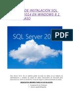 Manual de Instación SQL Server 2014
