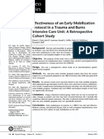 early mobility in trauma icu