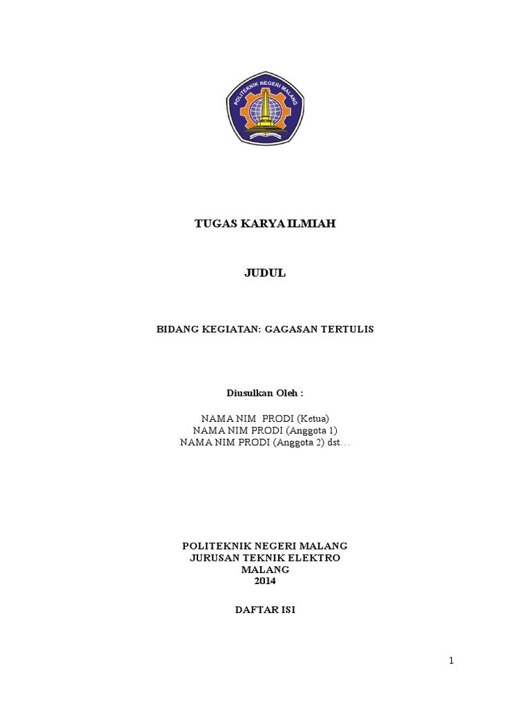 Format Karya Ilmiah Gagasan Tertulis Copy