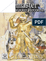 Rolemaster Character Records