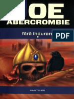 Fara Indurare - Joe Abercrombie 1 si 2
