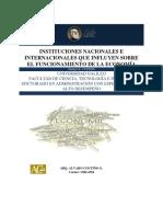 Instituciones Nacionales e Internacionales Que Influyen en El Funcionamiento de La Economía