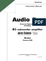 CinemaSub 115V Manual