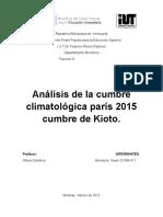 Protocolo Kyoto Cumbre de Paris