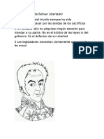 Pensamientos de Bolívar Libertador