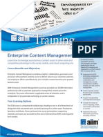 Aiim Ecm Data Sheet 2015