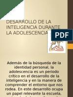 Desarrollo de La Inteligencia Durante La Adolescencia