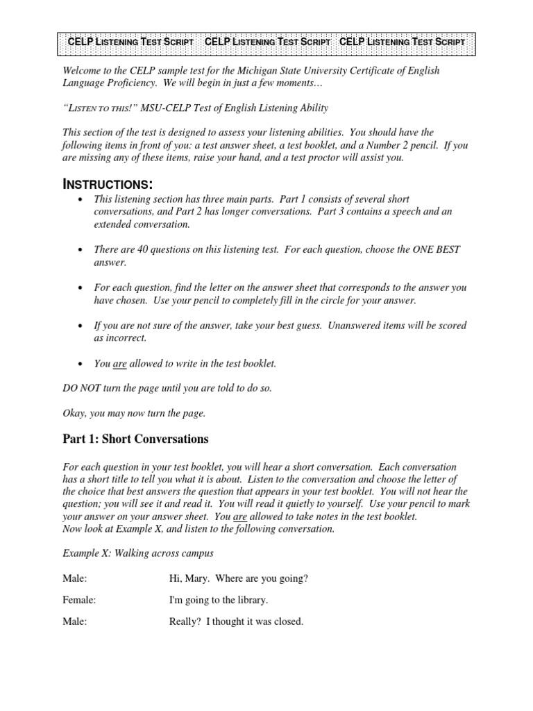 Celp Practice Test2 Listeningscript | Invasive Species