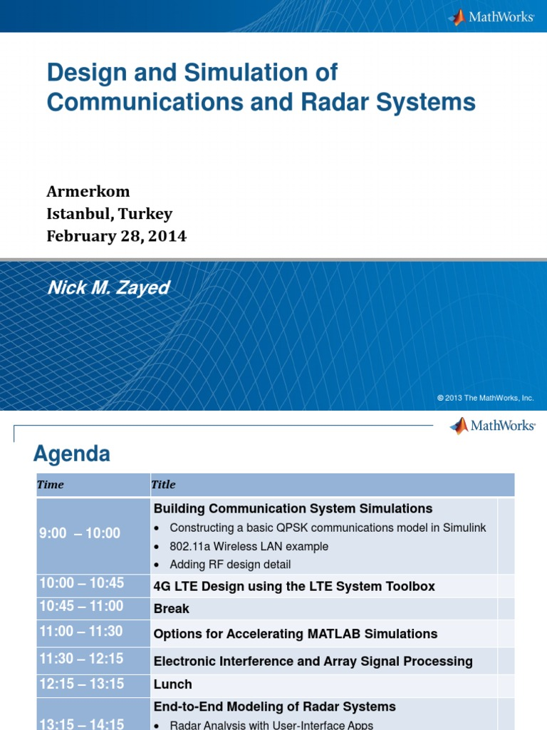 Communication Radar Systems Design and Simulation   Forward Error