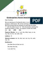 parent newsletter 14