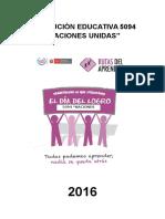 Plan de Trabajo Día de Logro 2016