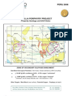 Antilla porphyry project ( Property geology and drill holes)
