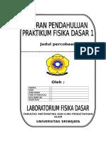 Format Laporan Praktikum Fisika Dasar 1