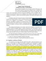 Tema 1 Introducción Importancia de La Linguística Unidad 1