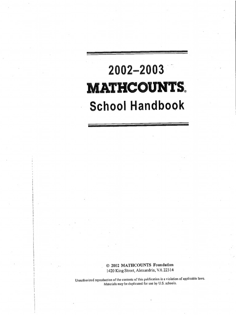 2002-2003 Handbook Problems