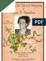 Hamilton Funeral Program