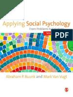 Applying Social Psychology