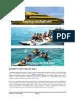 Paket Wisata - Bounty Day Cruise Bali