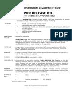 Power Release Oil Creamy White