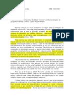 Resenha Do Texto - Notas Sobre Identidade Nacional e Institucionalização Da Geografia No Brasil - Antonio Carlos Robert Moraes