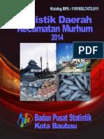 Statistik Daerah Kecamatan Murhum 2014