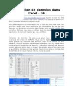 Extraction de Données Dans Excel - 34